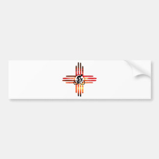 Bike New Mexico Bumper Sticker