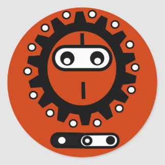 Bike ninja Icon Classic Round Sticker