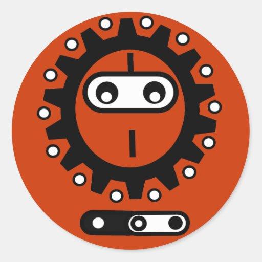 Bike ninja Icon Round Stickers