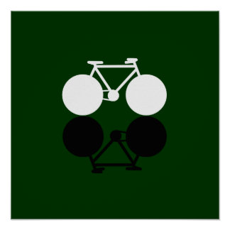 bike on green poster