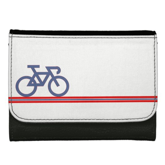Bike on Norwegian-inspired Flag Lines Wallets