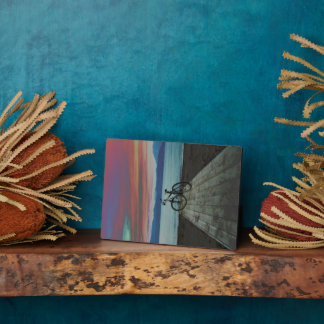 Bike On Pier | Greece Display Plaques