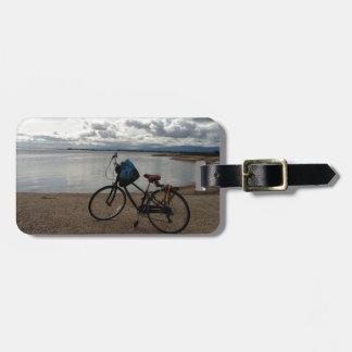 Bike on the Beach Luggage Tag