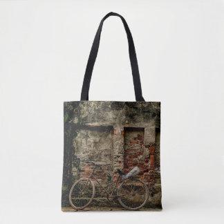 Bike on Wall Tote Bag