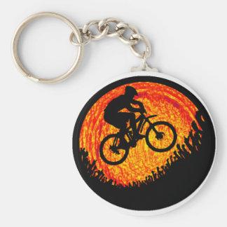 Bike one love basic round button key ring