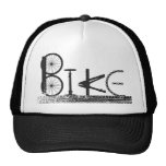 Bike Parts Word Graffiti Urban Design for Cyclists Cap