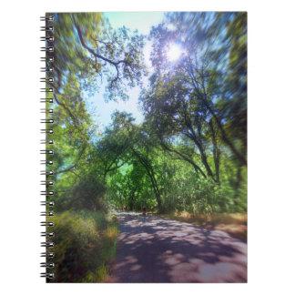 Bike Path in Chico, CA Note Books