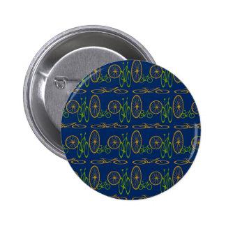 Bike pattern 6 cm round badge