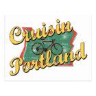 Bike Portland Cruise Oregon Postcard