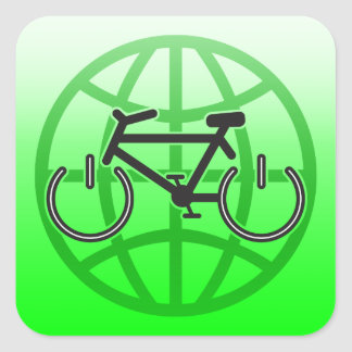 Bike Power for Earth Day Square Sticker