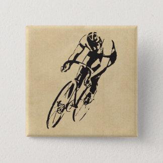Bike Racing Velodrome 15 Cm Square Badge