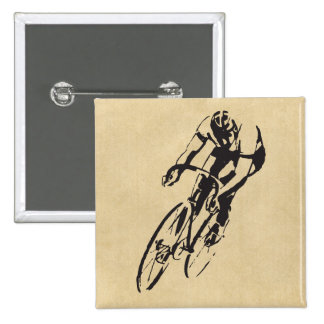 Bike Racing Velodrome 15 Cm Square Badge