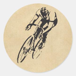 Bike Racing Velodrome Round Sticker