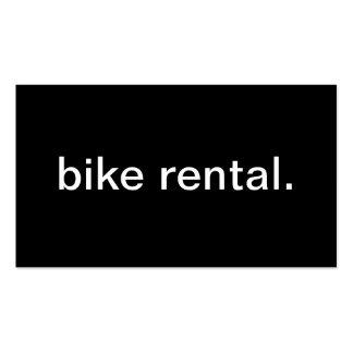 Bike Rental Business Card