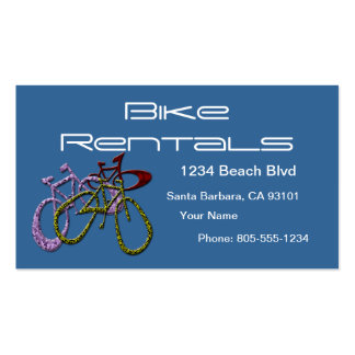 Bike Rentals Double-Sided Standard Business Cards (Pack Of 100)