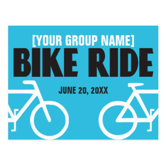 Bike Ride Bicycle Event Announcement Postcard