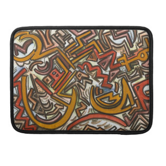 Bike Riding In Traffic-Abstract Geometric Sleeve For MacBook Pro