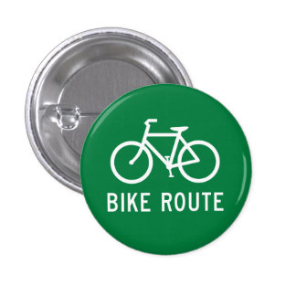 Bike Route Cycling Path Bicycle Lane Road Sign 3 Cm Round Badge