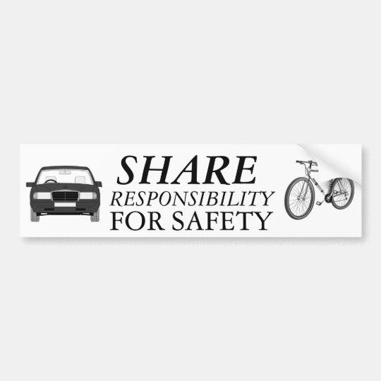 Bike Safety Together Bumper Sticker