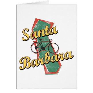 Bike Santa Barbara Bicycle California Greeting Cards