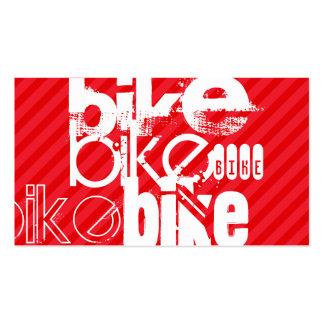Bike; Scarlet Red Stripes. Pack Of Standard Business Cards