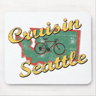 Bike Seattle Cruise Washington Mousepads