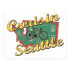 Bike Seattle Cruise Washington Postcard