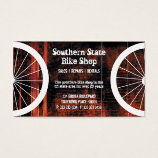 Bike Shop Grunge Business Card