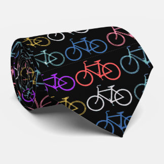 Bike Silhouettes Trendy Shades of Color Black Back Tie
