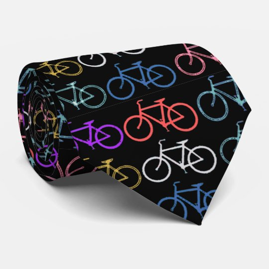 Bike Silhouettes Trendy Shades of Colour Black Tie