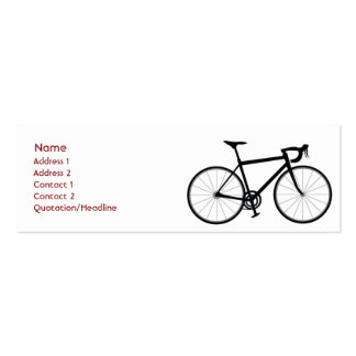 Bike - Skinny Double-Sided Mini Business Cards (Pack Of 20)