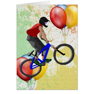 Bike Sport Happy Birthday Family Friends Destiny Card