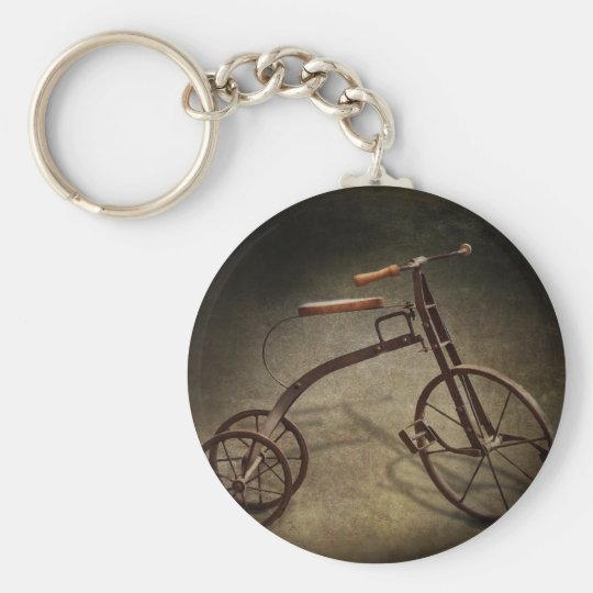 Bike - The Tricycle Basic Round Button Key Ring