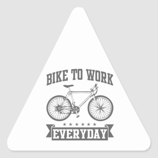 triangle bike stickers