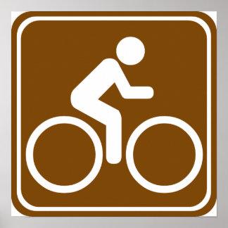 Bike Trail Highway Sign