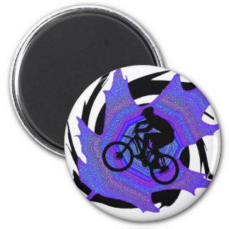 Bike Triple Mines 6 Cm Round Magnet