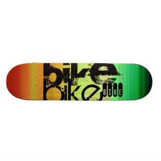 Bike; Vibrant Green, Orange, & Yellow Custom Skateboard