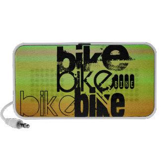 Bike; Vibrant Green, Orange, & Yellow PC Speakers