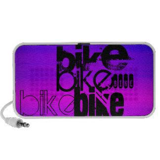 Bike; Vibrant Violet Blue and Magenta iPhone Speaker