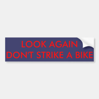 Bike warning sticker for car drivers bumper sticker