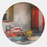 Bike - Welcome, doors open Round Sticker