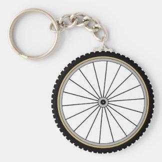 Bike Wheel Basic Round Button Key Ring