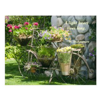 Bike with flowers post cards