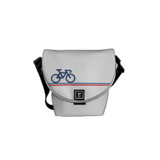 Bike with French-inspired Flag lines Messenger Bag