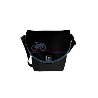Bike with Netherlands-inspired Flag lines Commuter Bag