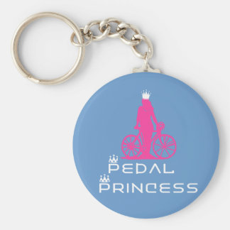 BikeChick Pedal Princess Basic Round Button Key Ring