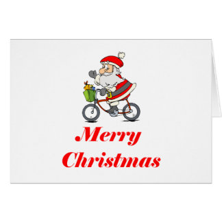 BikeChick Santa Greeting Cards