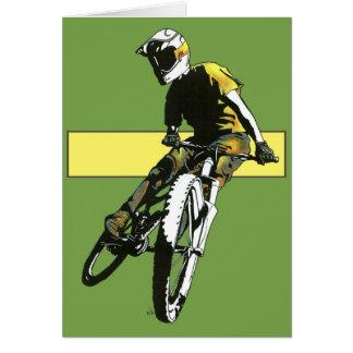 Biker1 - Green Yellow Card