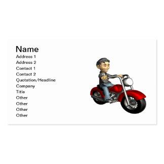 Biker 9 business card template