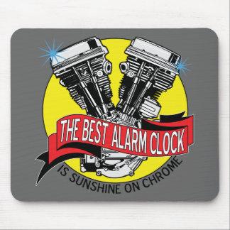 Biker Alarm Clock Mouse Mat